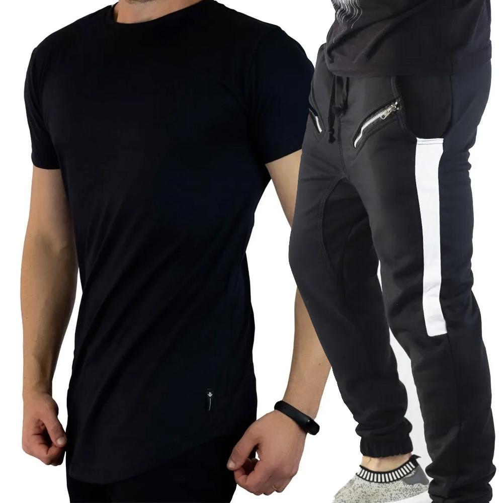 Kit Camiseta Long + Calça Moletom