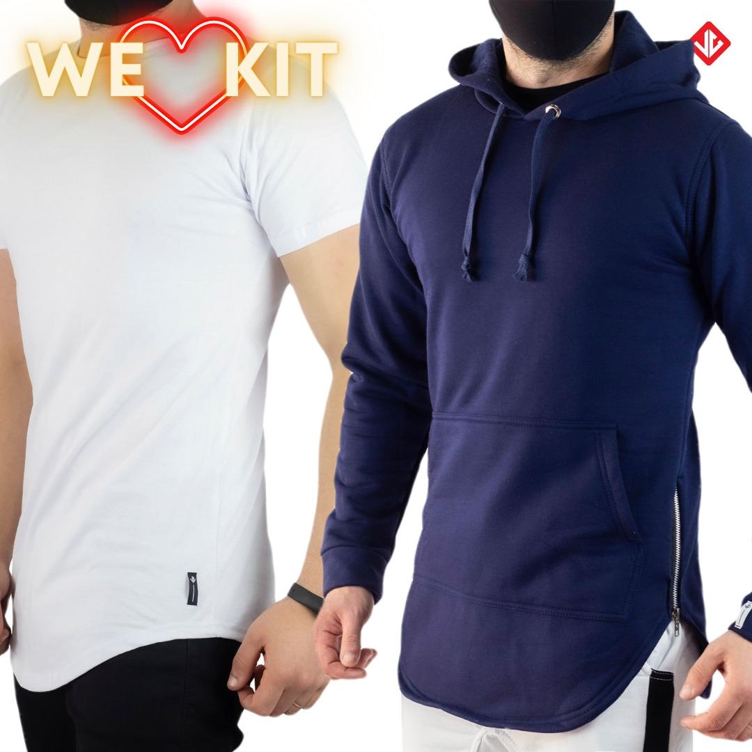 Kit Camiseta Long + Casaco Over