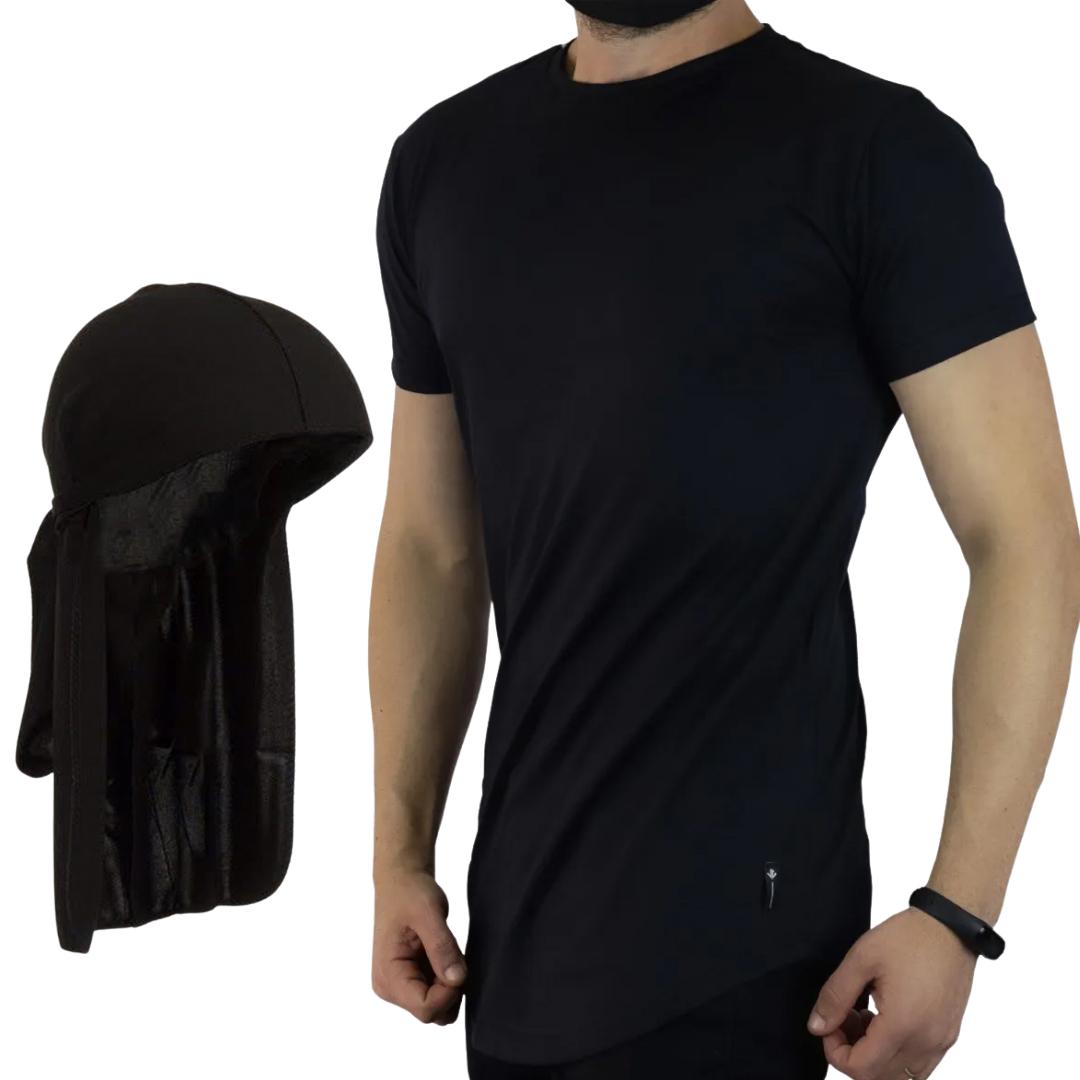Kit Durag + Camiseta Longline - Bandana Durag e Camiseta Oversized