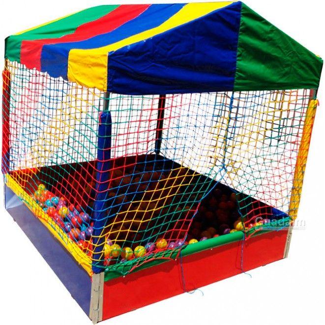 Piscina de bolinha de 2m x 2m com bolas coloridas for Bolas para piscina
