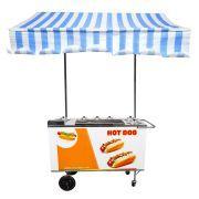 Carrinho de Hot Dog, Lanches e Cachorro Quente CH4 com Toldo Alsa