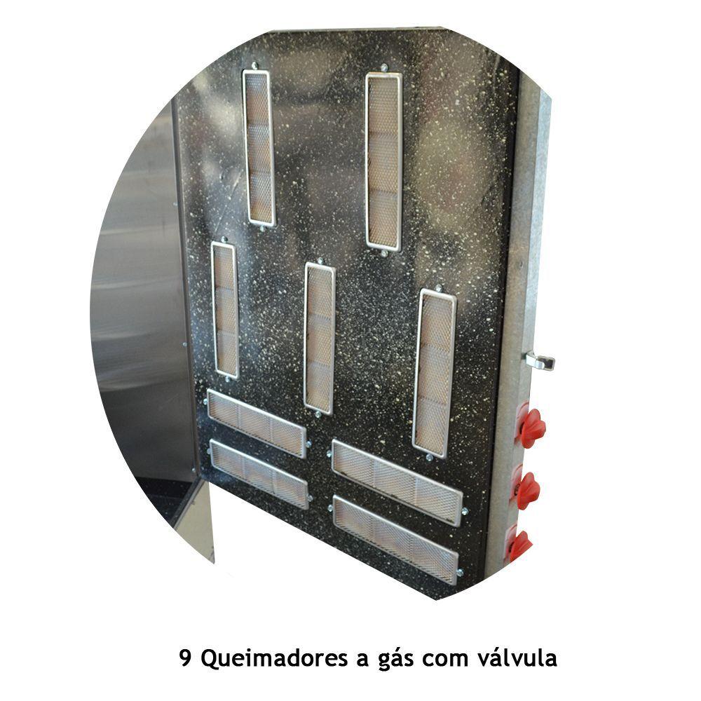 Máquina de Assar Frango e Carne Assador Giratório Progás 60 Frangos