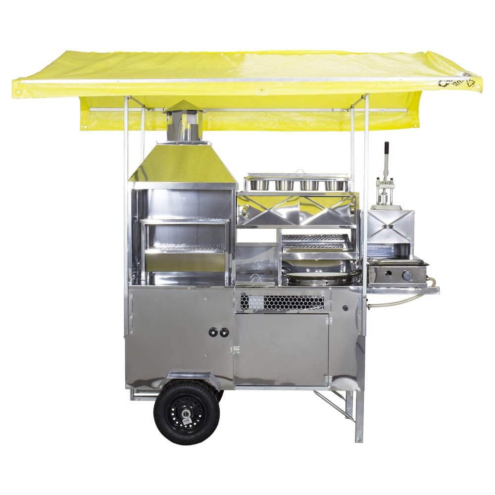 Carrinho 5 em 1 Hot Dog, Pastel, Batata, Lanche e Churrasco