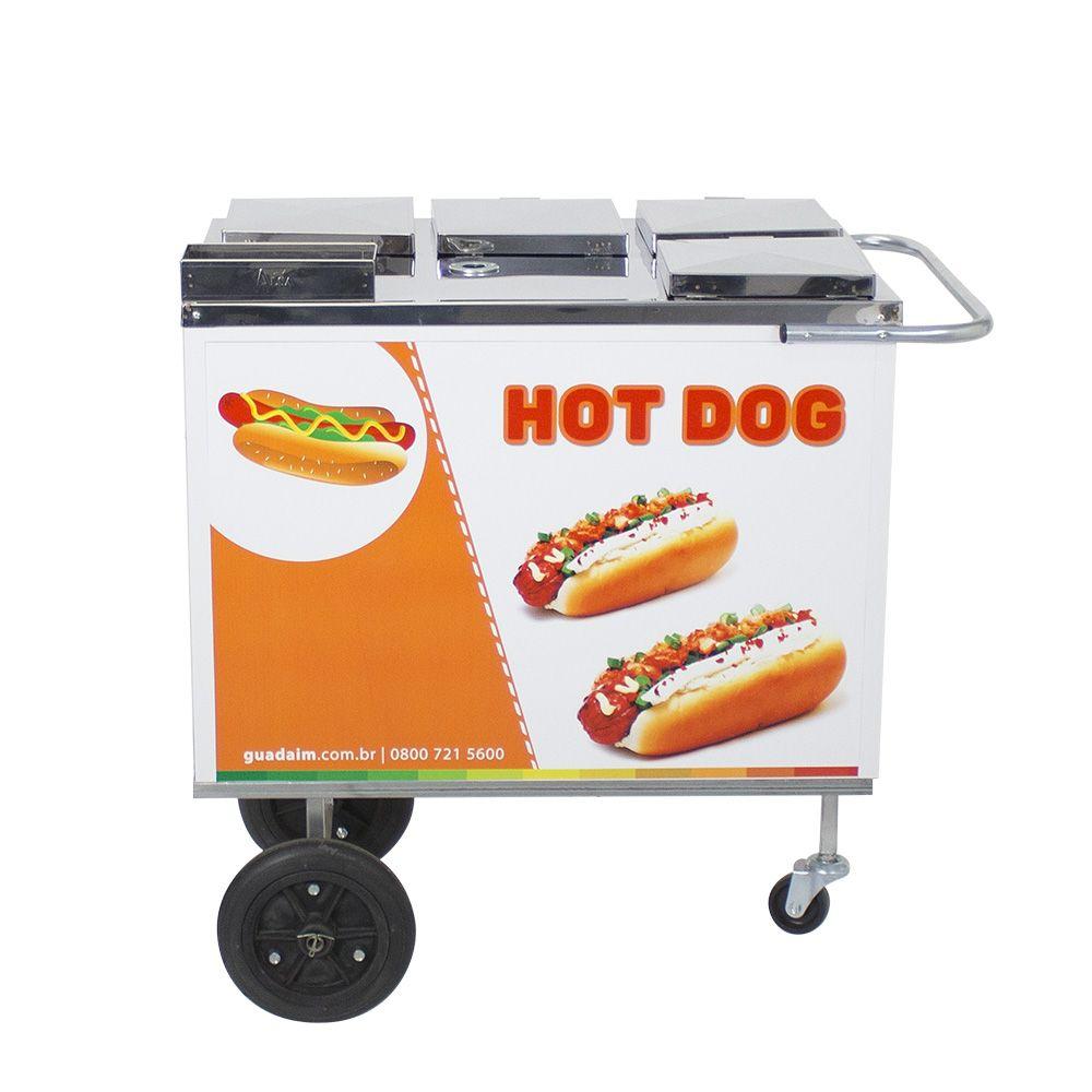 Carrinho de Hot Dog, Lanches e Cachorro Quente CH1 Alsa