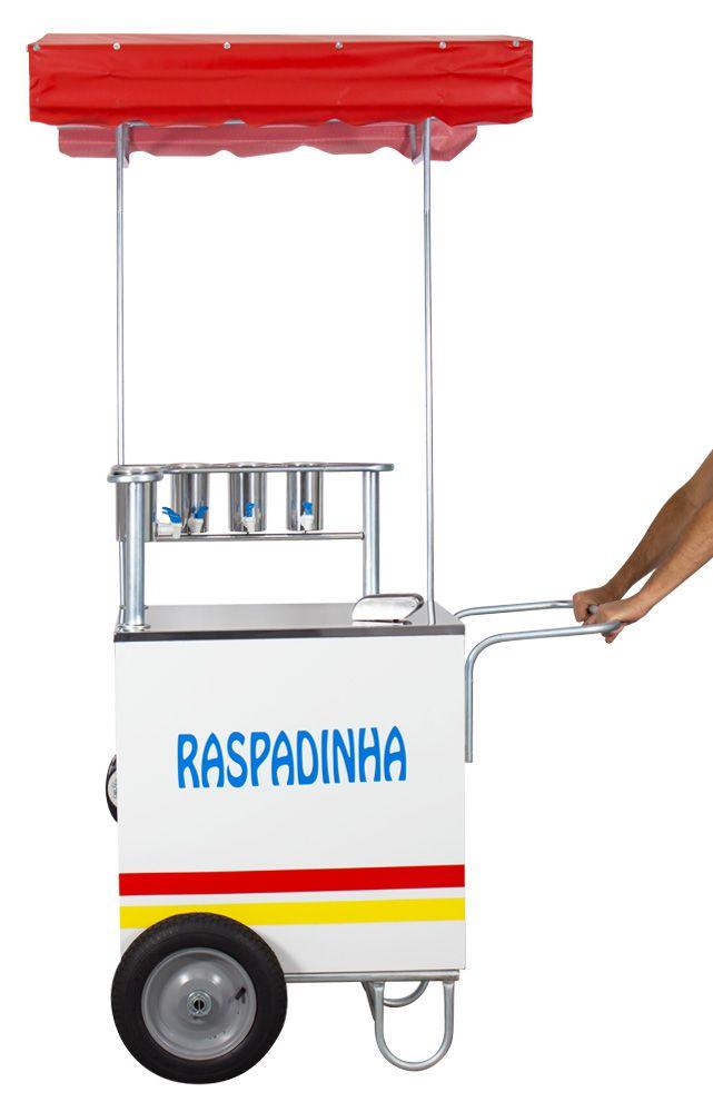 Carrinho de Raspadinha Compacto de 70cm com Raspador Manual