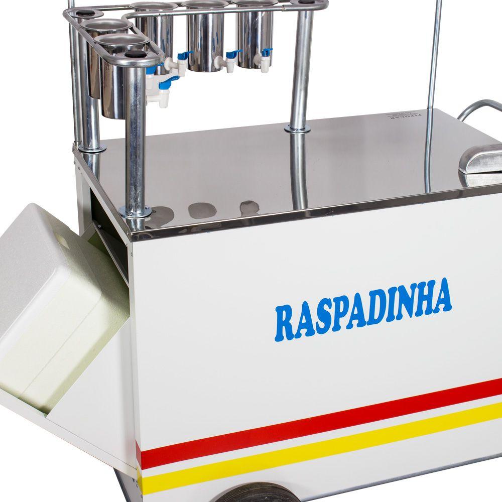Carrinho de Raspadinha Estendido 100cm com Raspador Manual