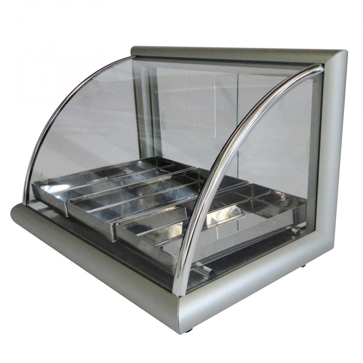 Estufa de Salgados com 3 Bandejas em Alumínio Anodizado