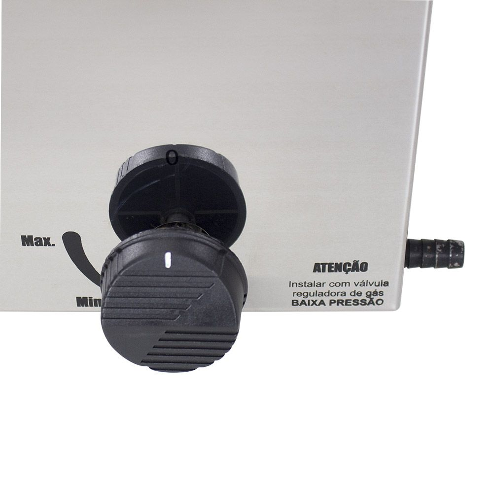 Fritadeira Industrial a Gás Oleo com 2 cubas de 5 Litros