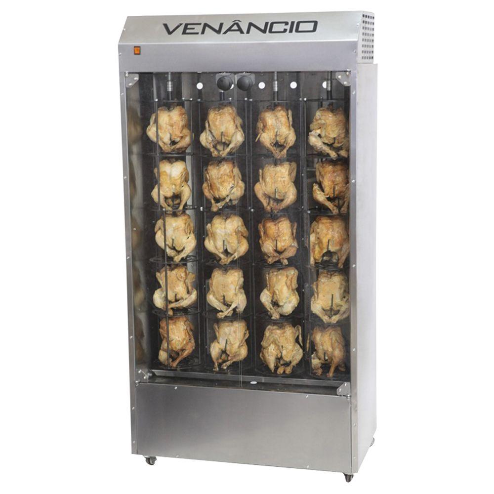 Máquina de Assar Frango Vertical Modelo Exclusivo Venâncio 20 Frangos