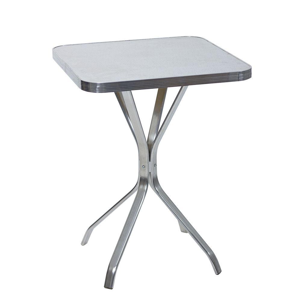 Mesa de Alumínio 60 cm x 60 cm Quadrada