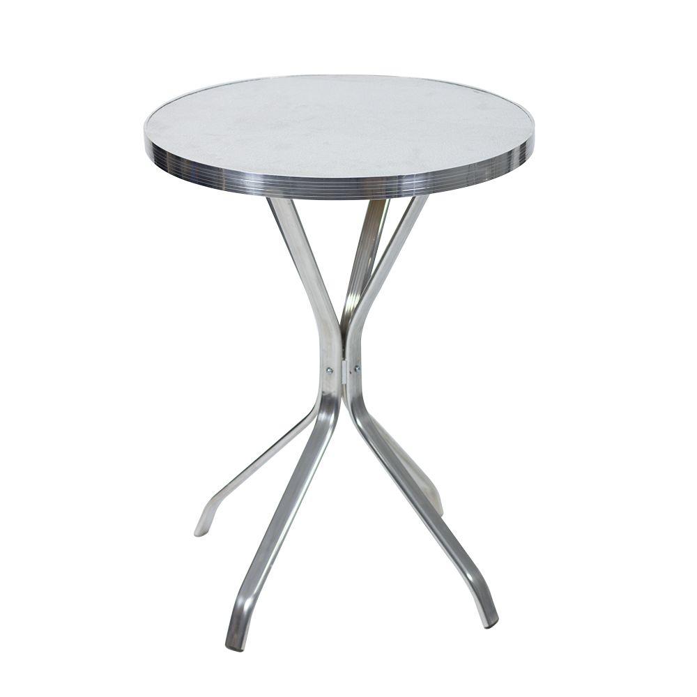 Mesa redonda de alum nio 60 cm x 60 cm for Mesa 60 x 60 extensible