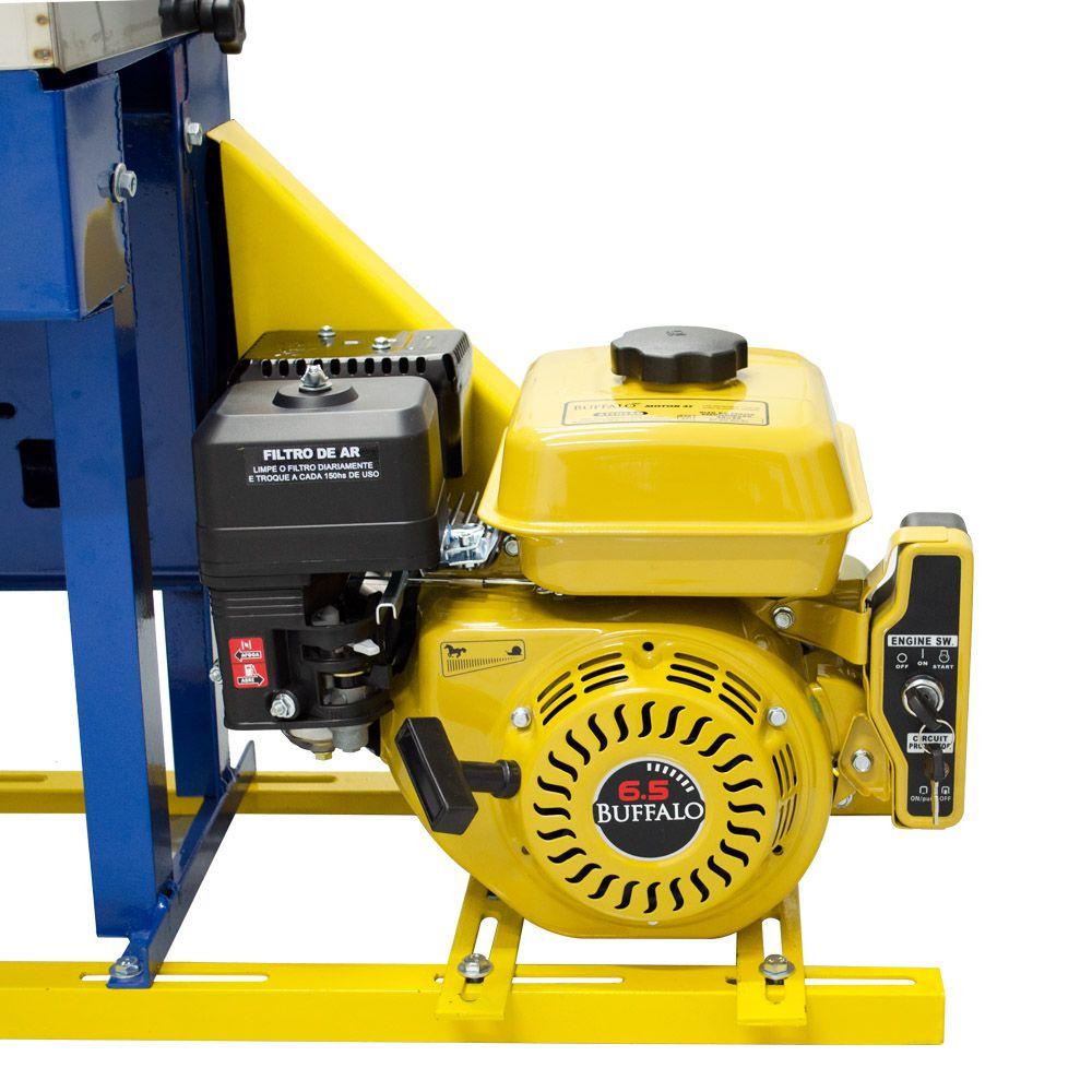 Moenda de Cana a Gasolina Partida Elétrica  B-721 TURBO Rolos de Ferro