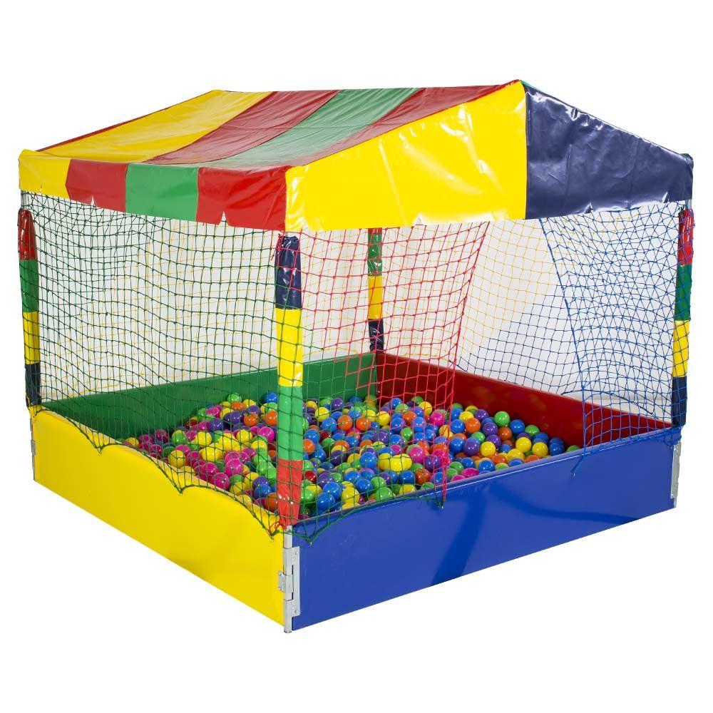 Piscina de bolinha de 2m x 2m com bolas coloridas for Bett 2m x 2m