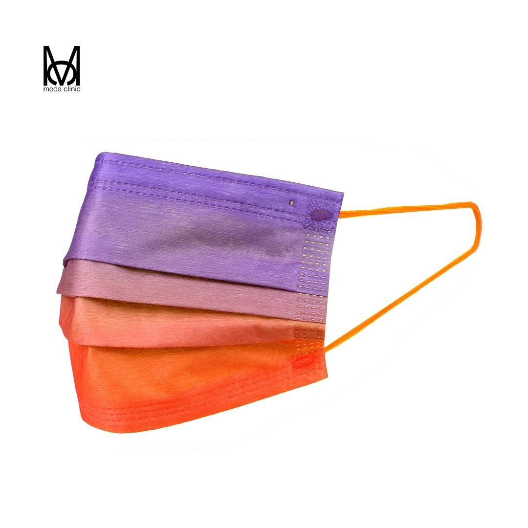 Máscara Descartável Tripla Multicolor - Pacote C/ 50