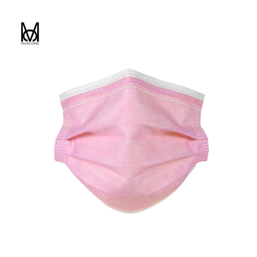 Máscara Descartável Tripla Rosa - Pacote C/ 50