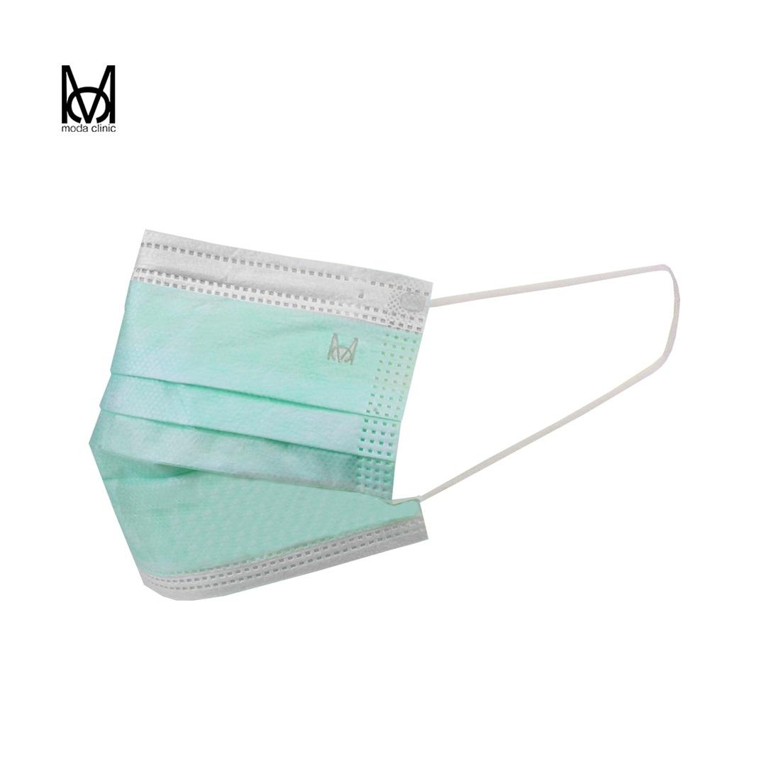 Máscara Descartável Tripla Verde - Pacote C/ 50