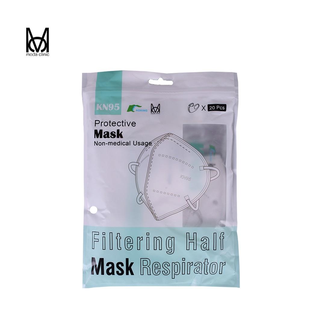 Máscara KN95 Branca - Pacote C/ 20 Unidades