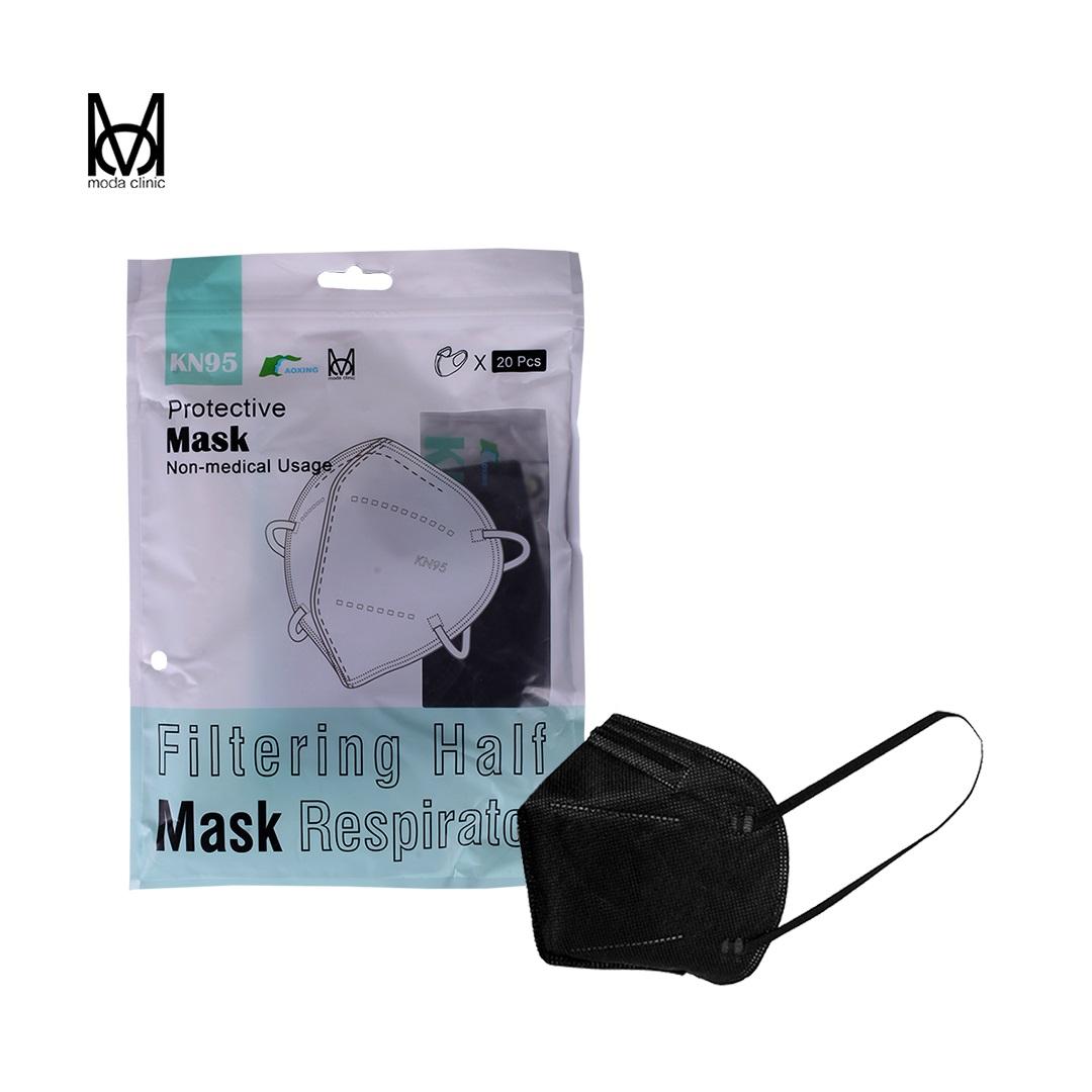 Máscara KN95 Preta - Pacote C/ 20 Unidades