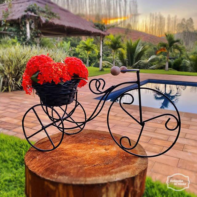 Bicicleta Decorativa Artesanal Rústica