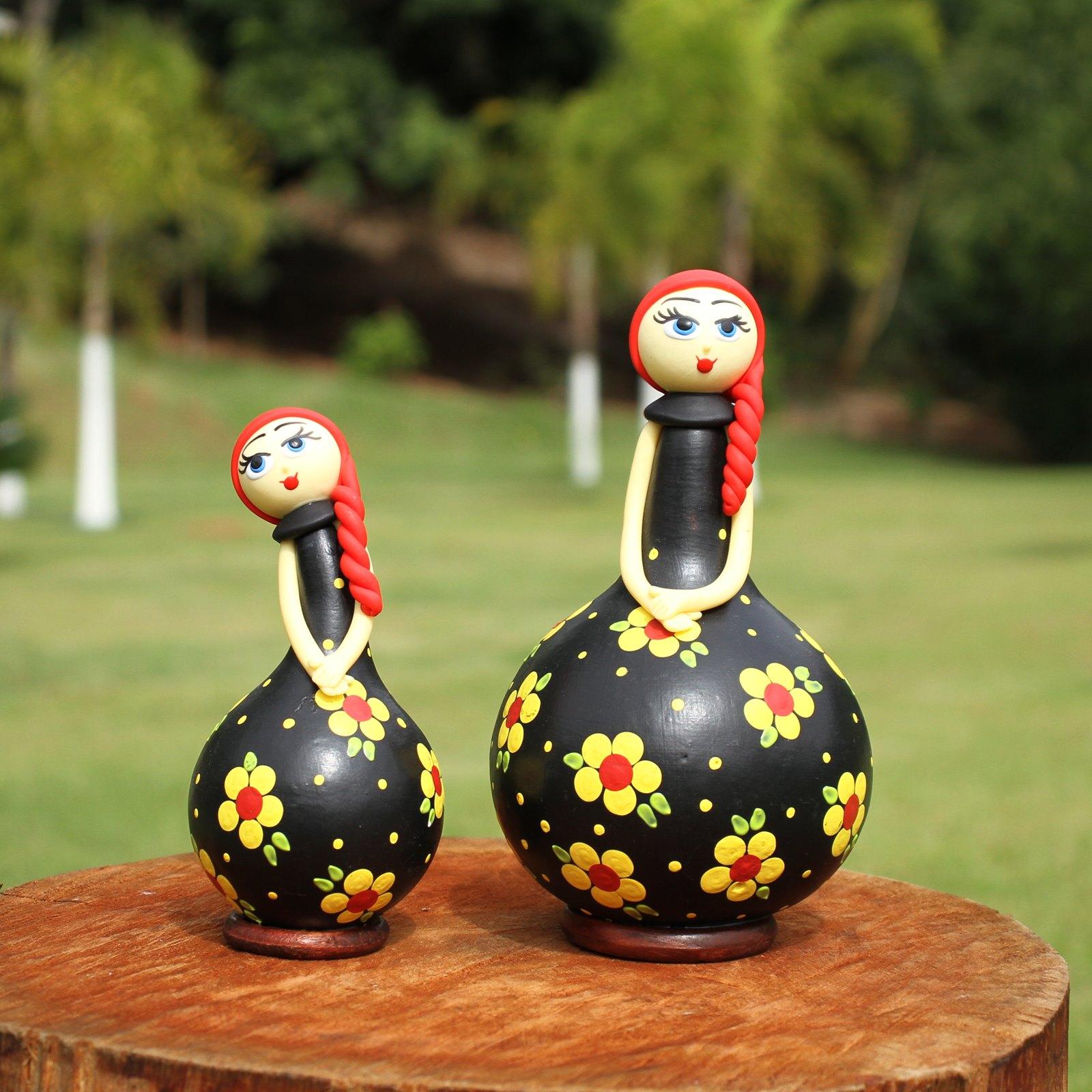 Bonecas Ruivas em Cabaça