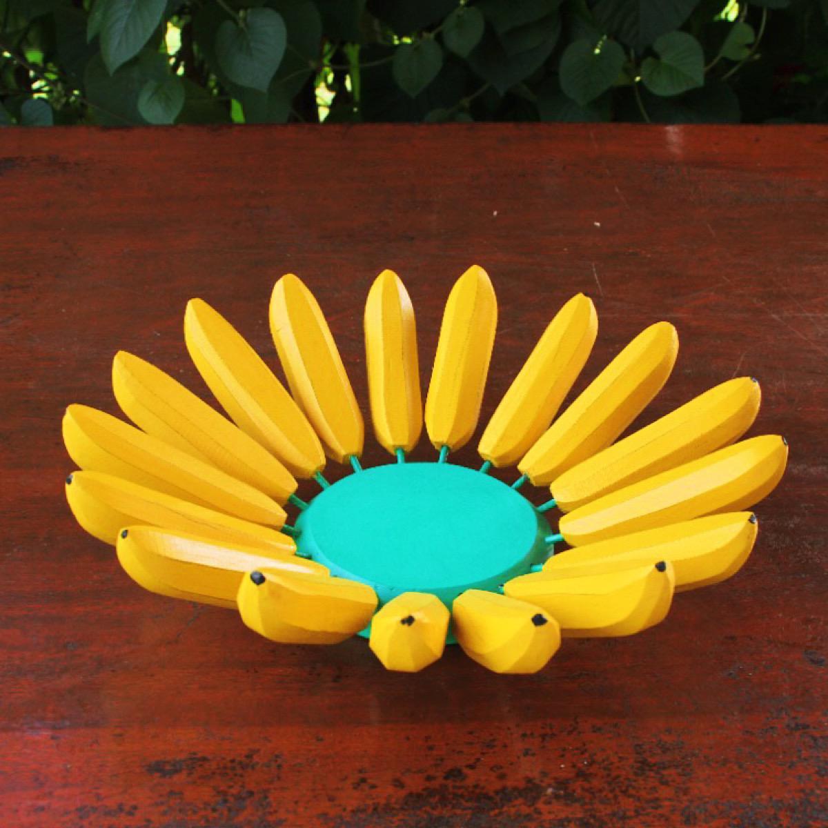 Fruteira Decorativa Rústica de Banana