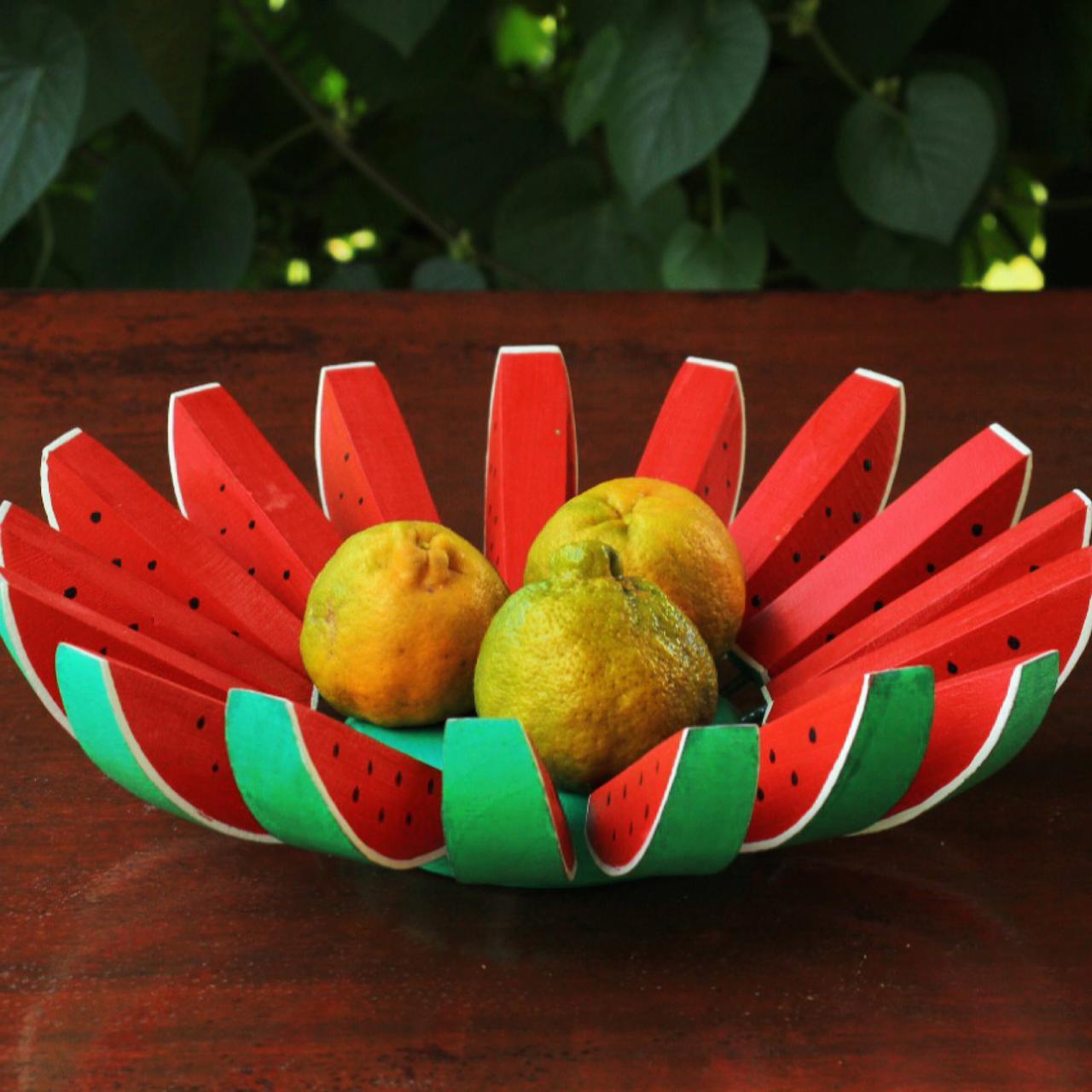 Fruteira Decorativa Rústica de Melancia