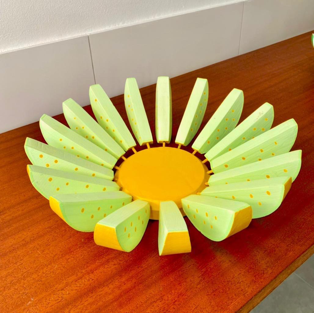 Fruteira Decorativa Rústica de Melão