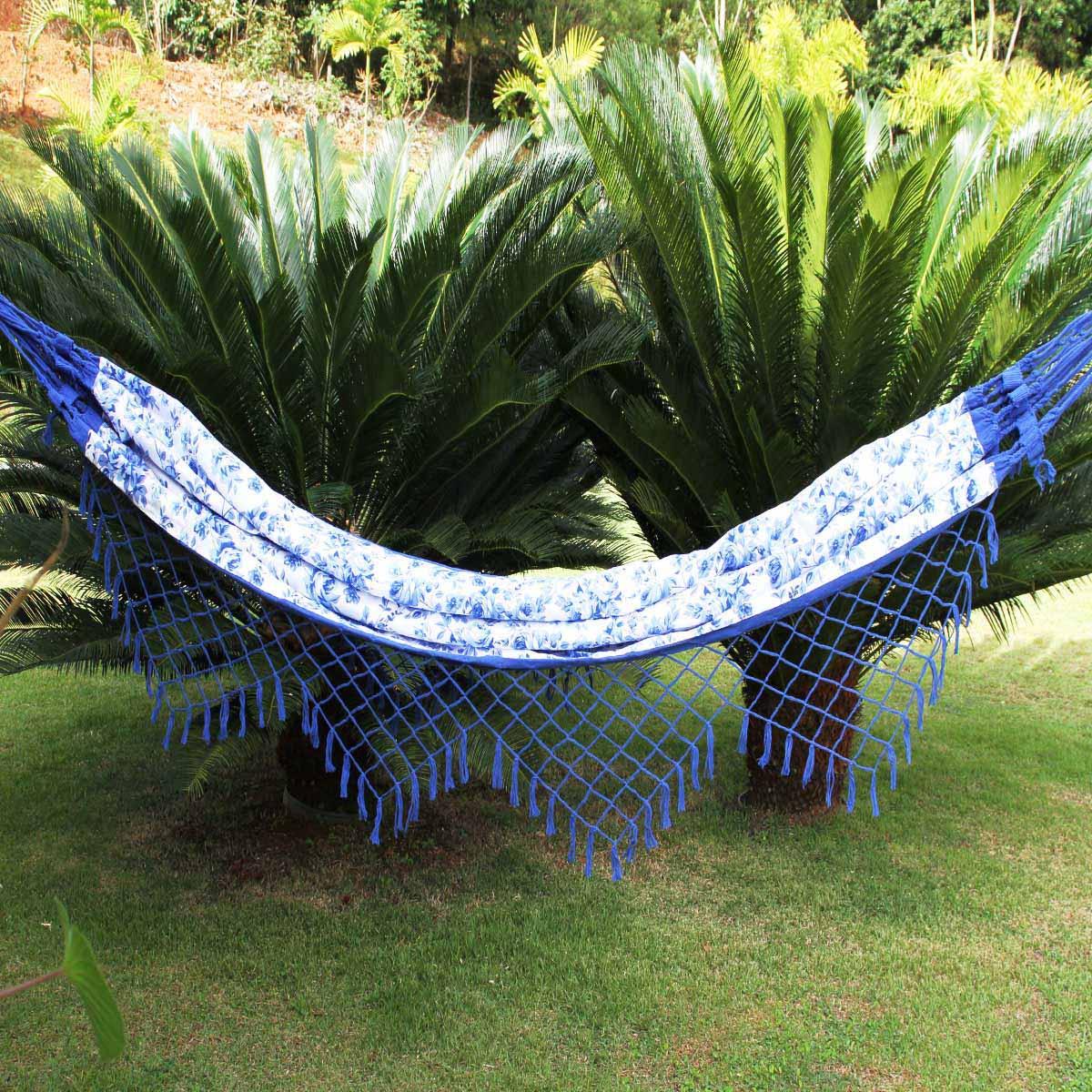 Rede Floral Azul Forrada em Belize