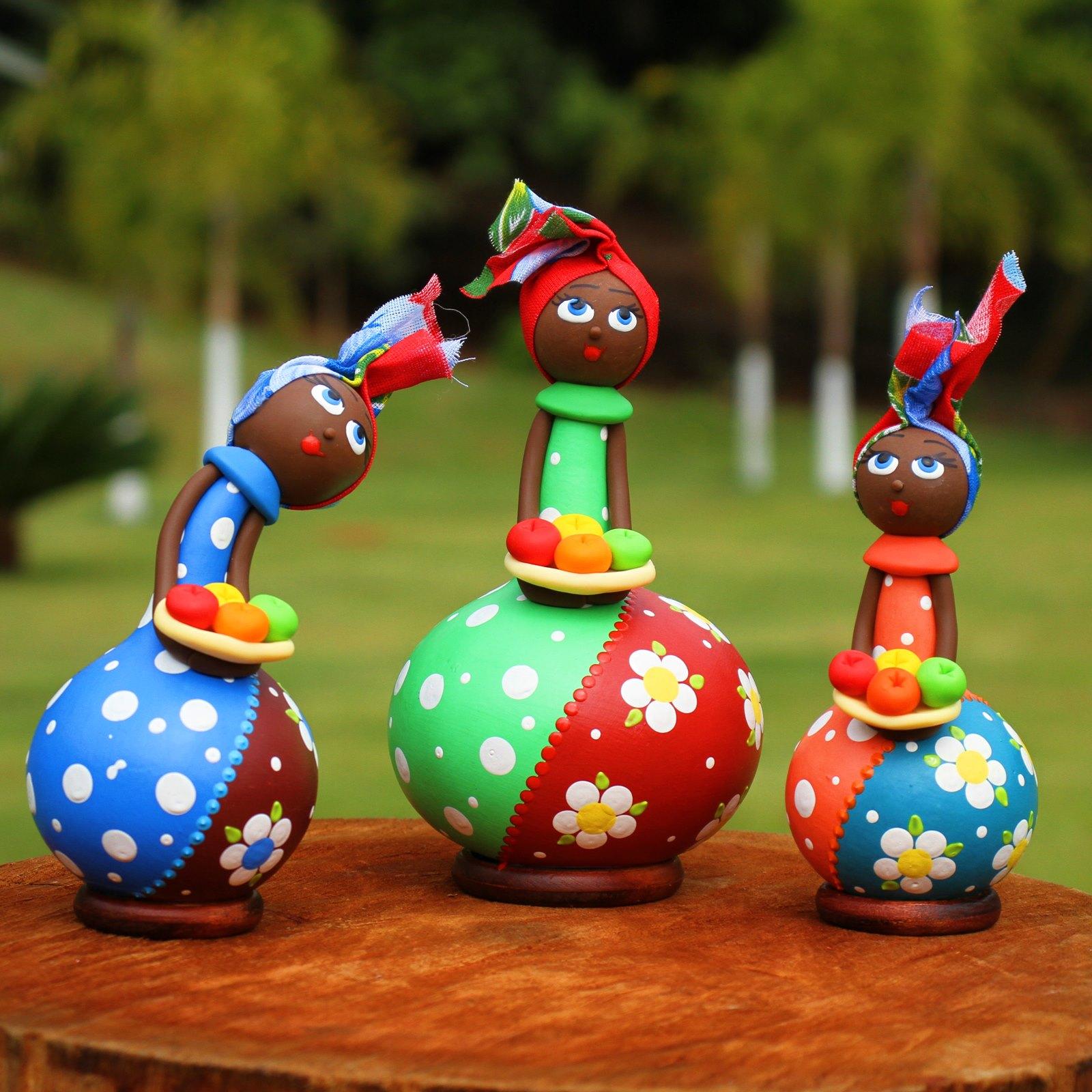 Trio Bonecas Baianas em Cabaça