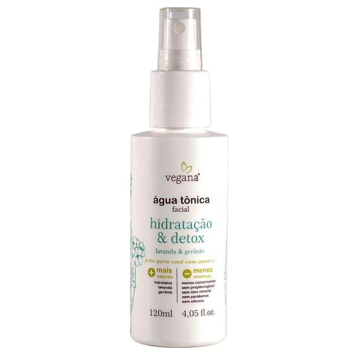 Agua Tonica Facial Hidratação e Detox 120ml - WNF