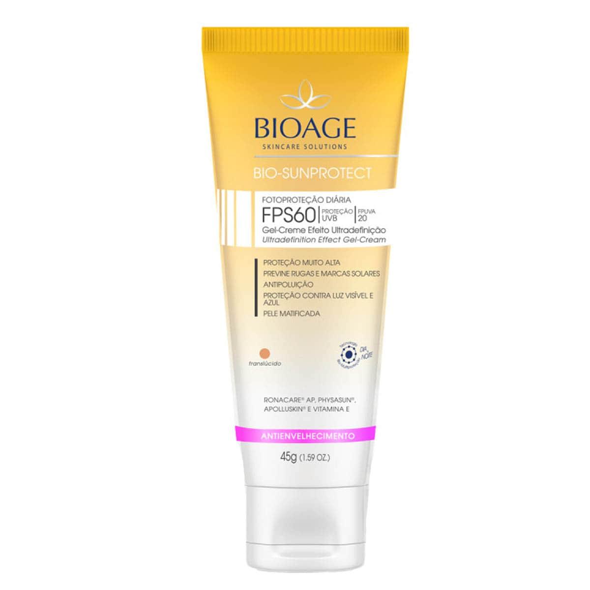 Bio Sunprotect Translucido FPS 60 - 45G - Bioage