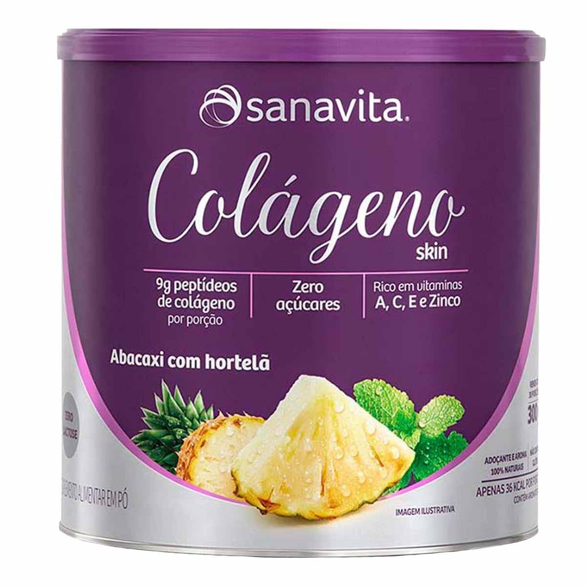 Colágeno Skin Abacaxi com hortelã lata 300g
