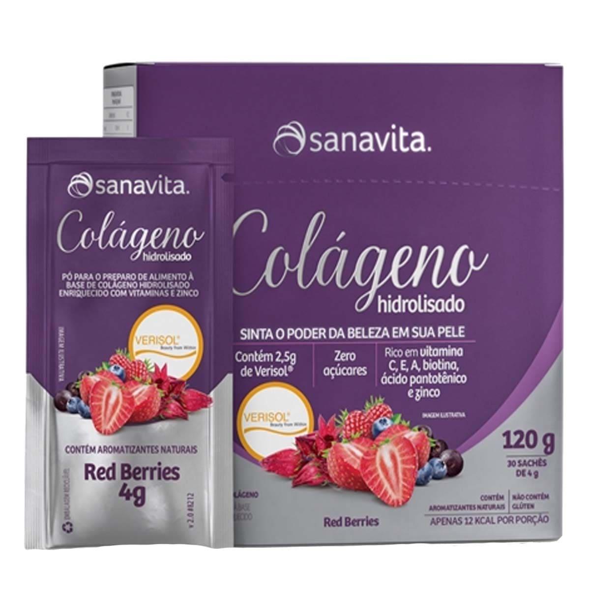 Colágeno Verisol Red Berries Display 30 sachês