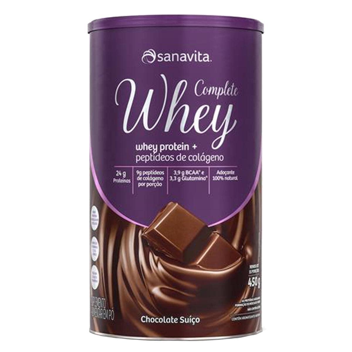 Complete Whey Chocolate Suiço lata 450g