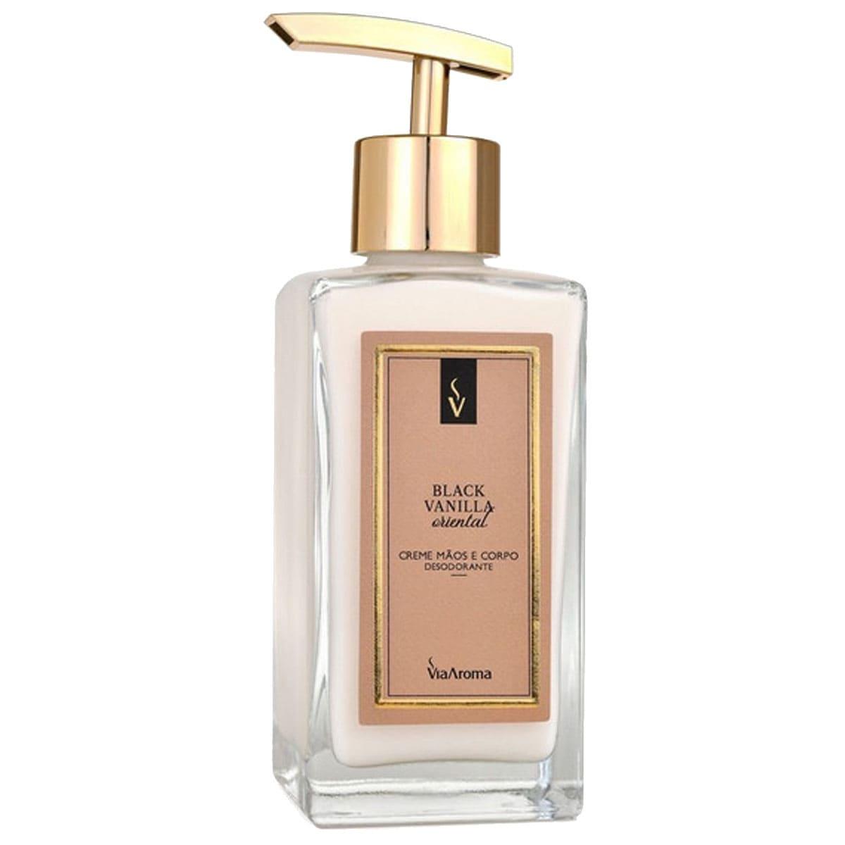 Creme hidratante desodorante para mãos e corpo black vanilla 250ml