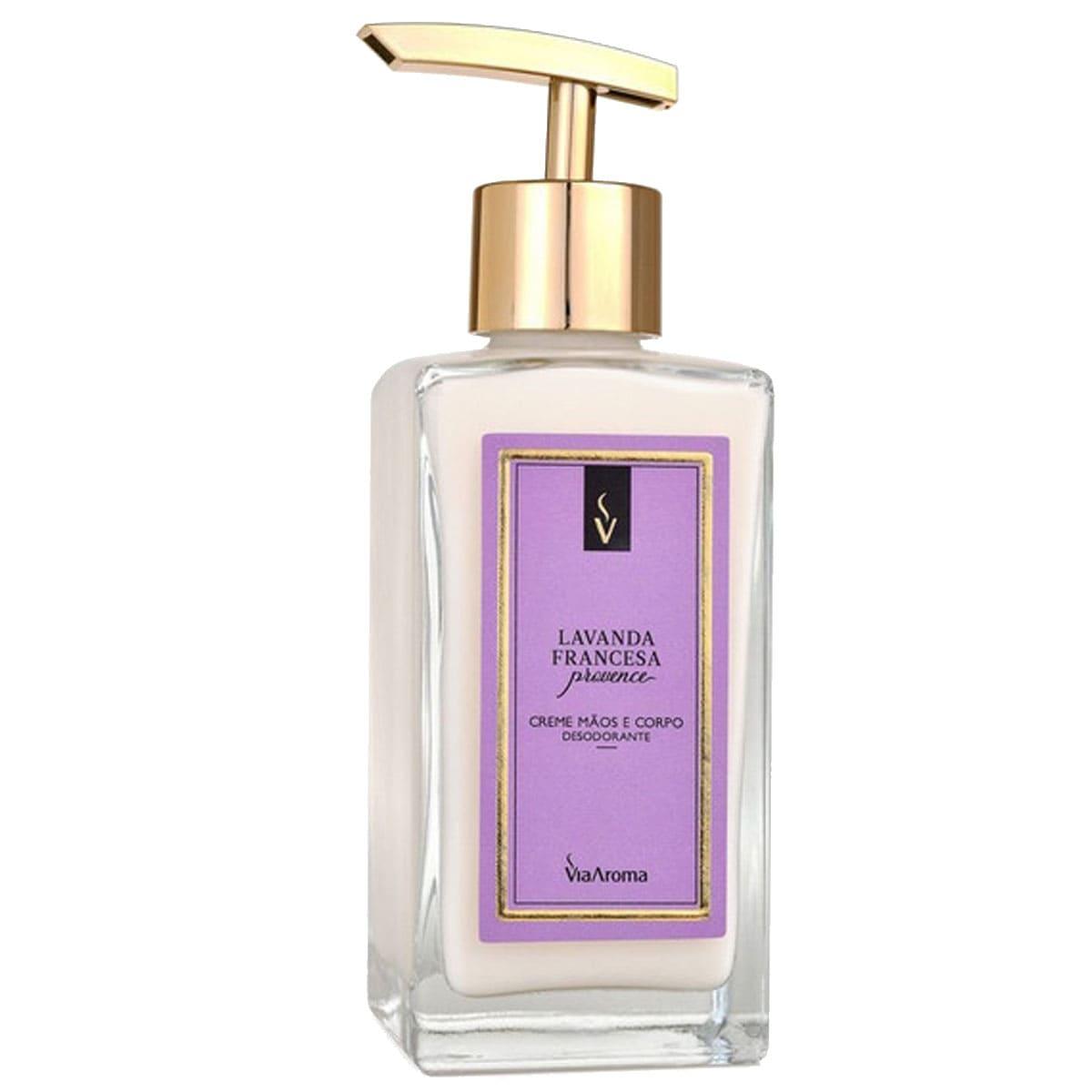 Creme hidratante desodorante para mãos e corpo lavanda francesa 250ml