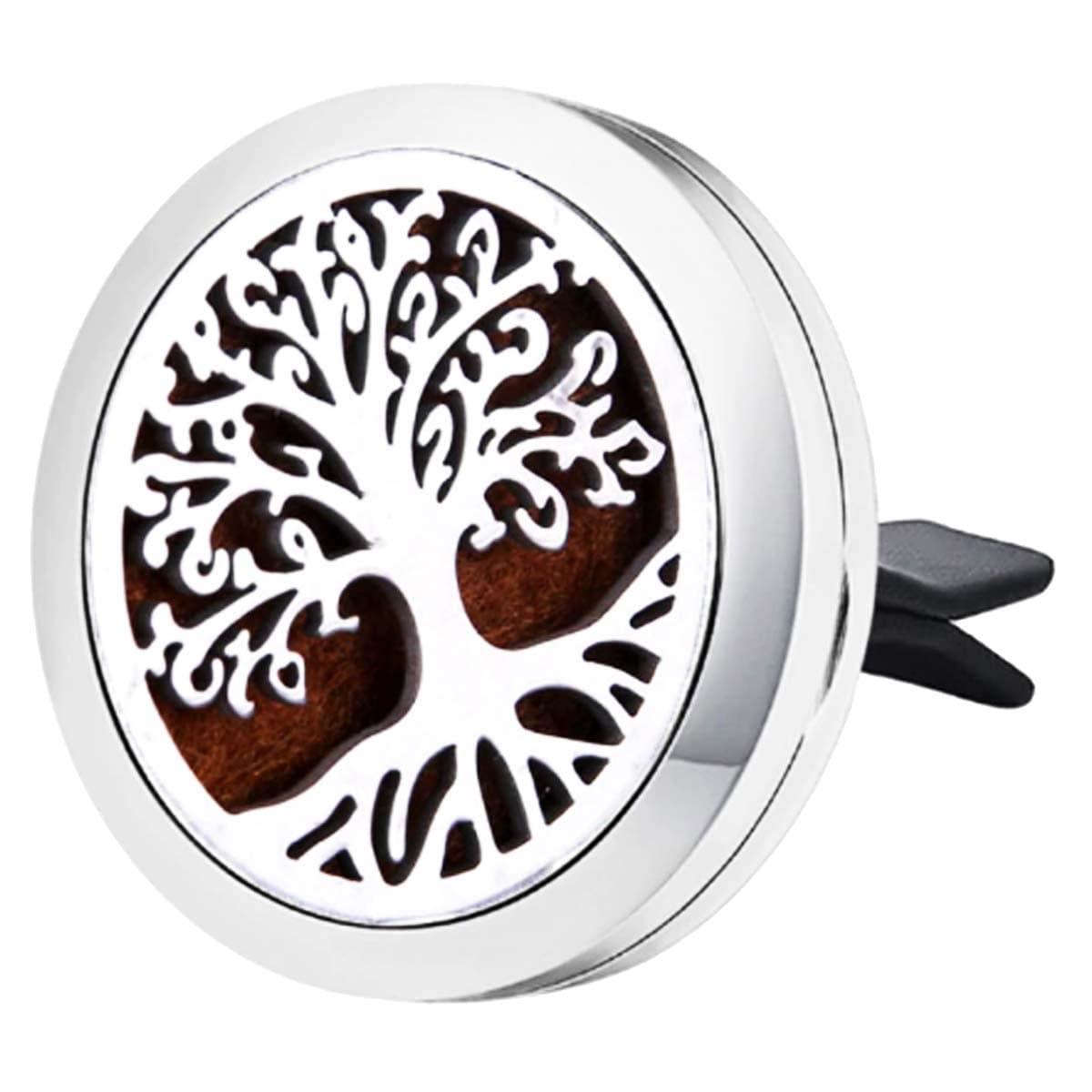 Difusor de Aromaterapia para carro em aço inoxidável - Árvore da Vida Raiz