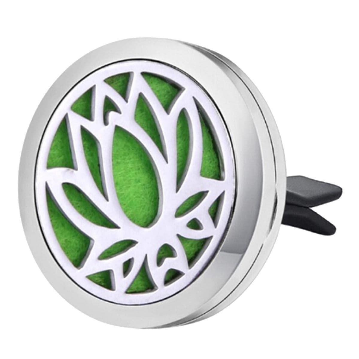 Difusor de Aromaterapia para carro em aço inoxidável - Flor de Lótus