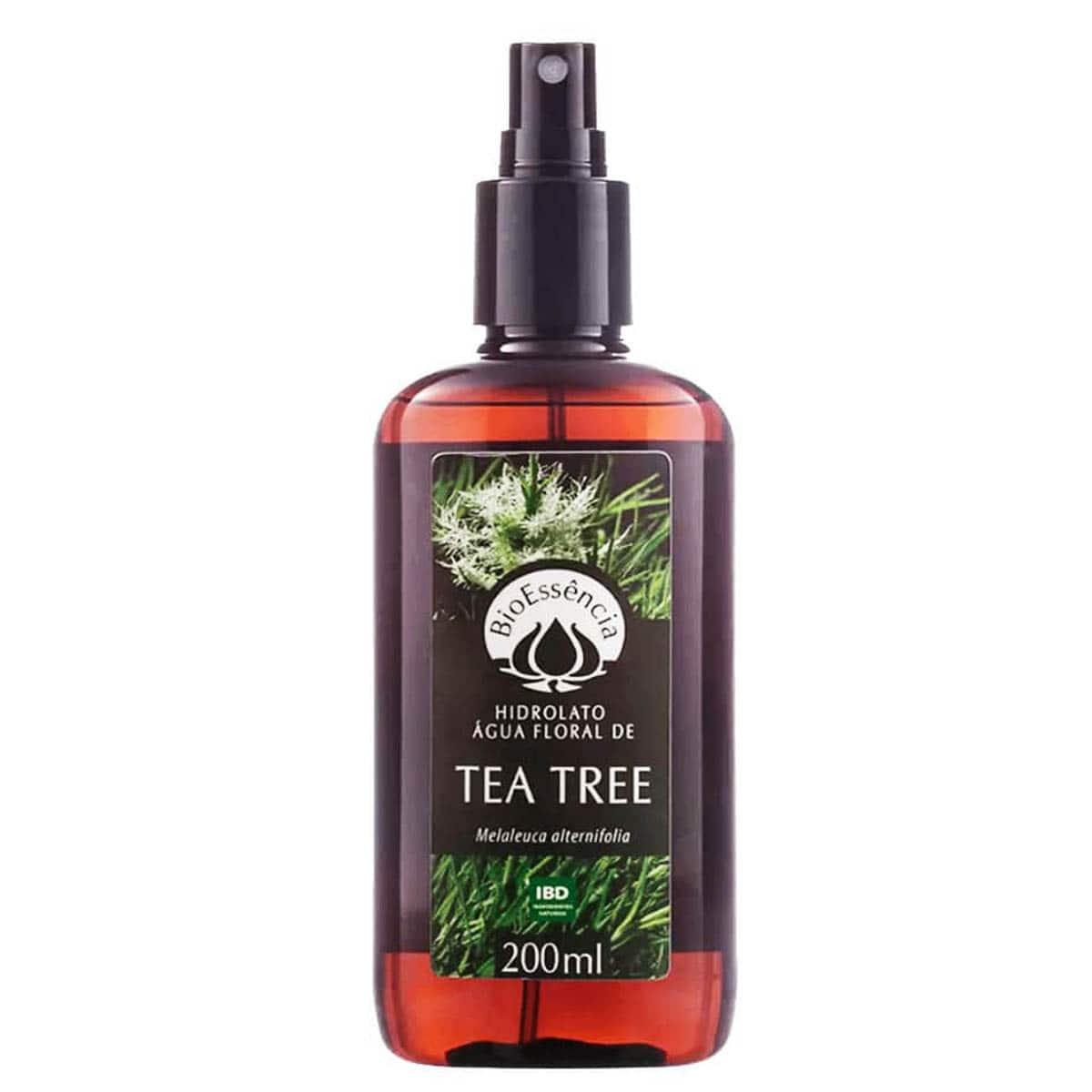 Hidrolato água floral de tea tree 200ml  - Bioessência