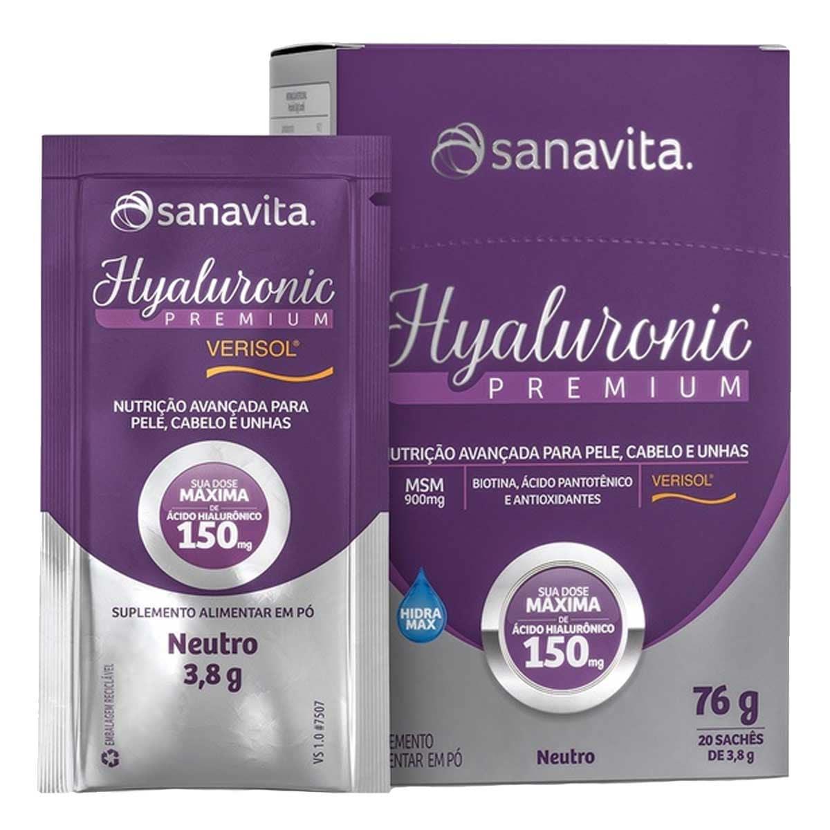 Hyaluronic Verisol Premium 150mg Neutro Display 20 sachês