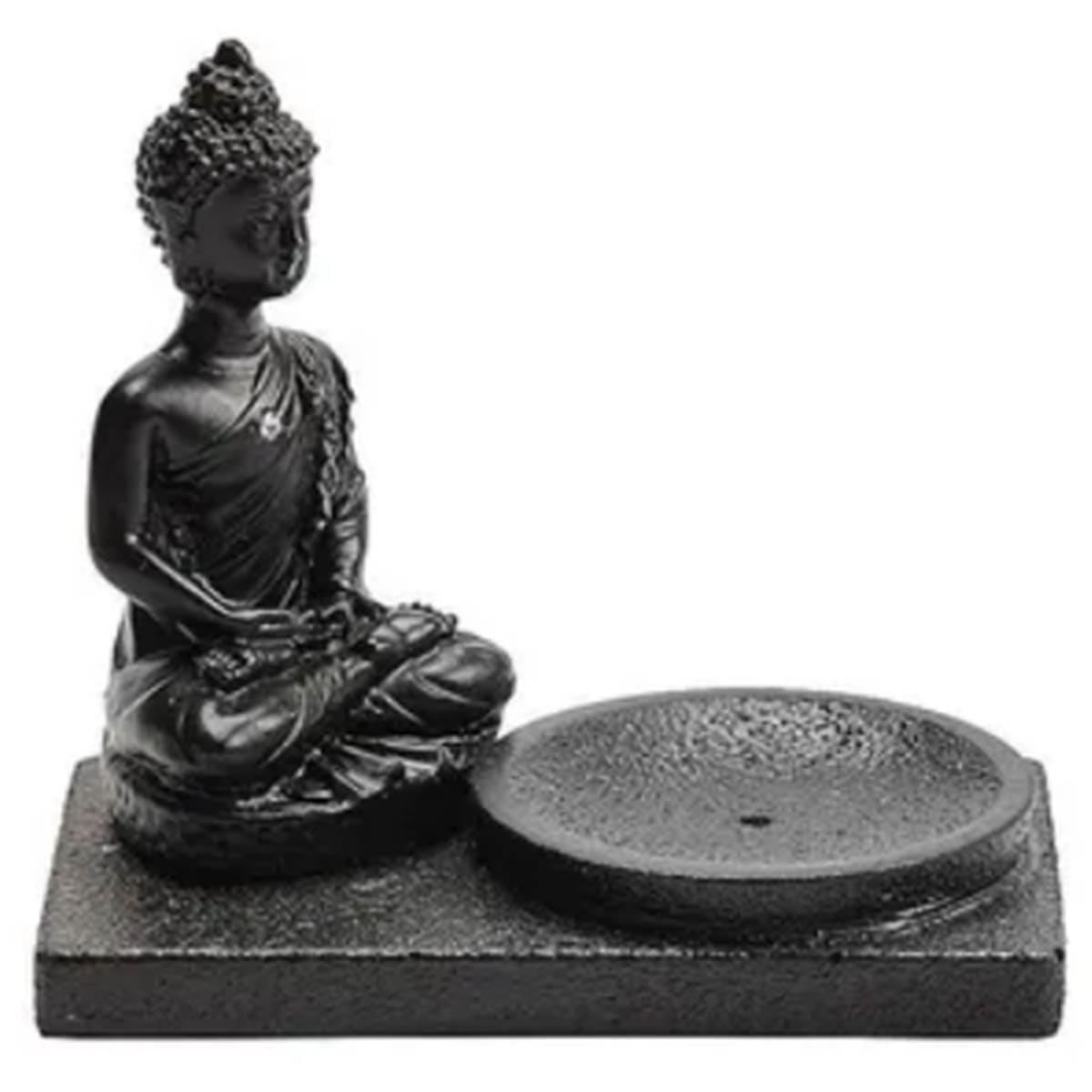 Incensário budha preto - central do incenso