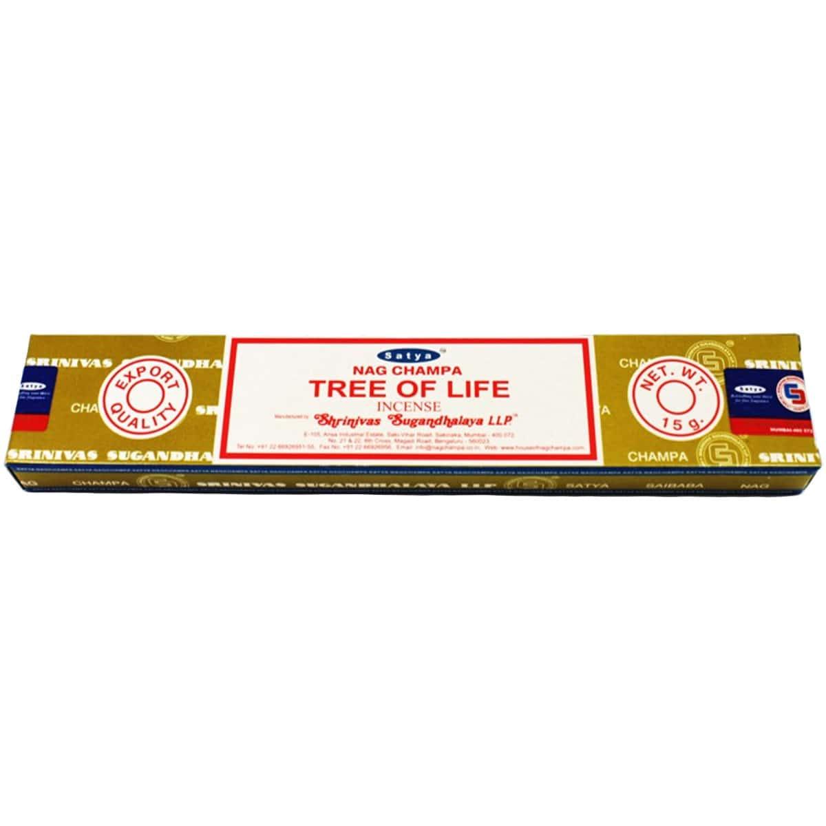 Incenso satya nag champa tree of life shrinivas