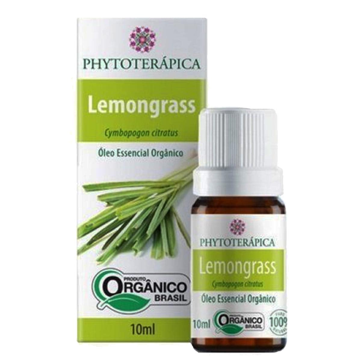 Óleo essencial lemongrass orgânico 10ml - Phytoterápica