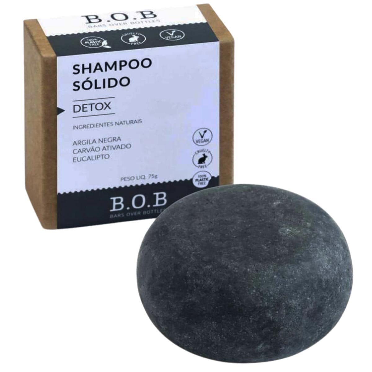 Shampoo solido detox 75g - B.O.B