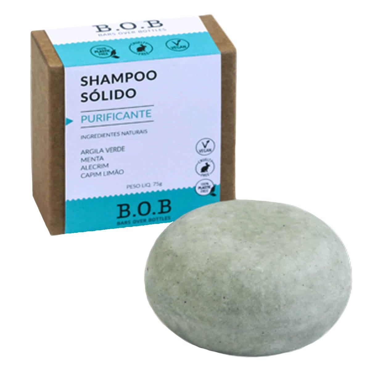 Shampoo sólido purificante 75g - B.O.B