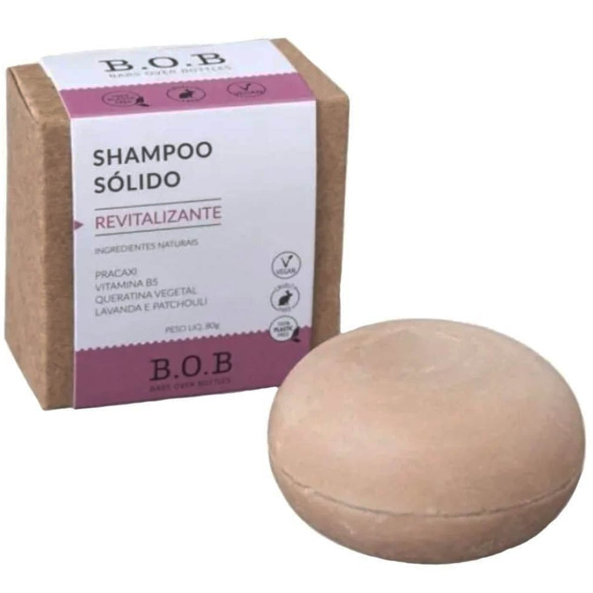 Shampoo solido revitalizante 75g - B.O.B