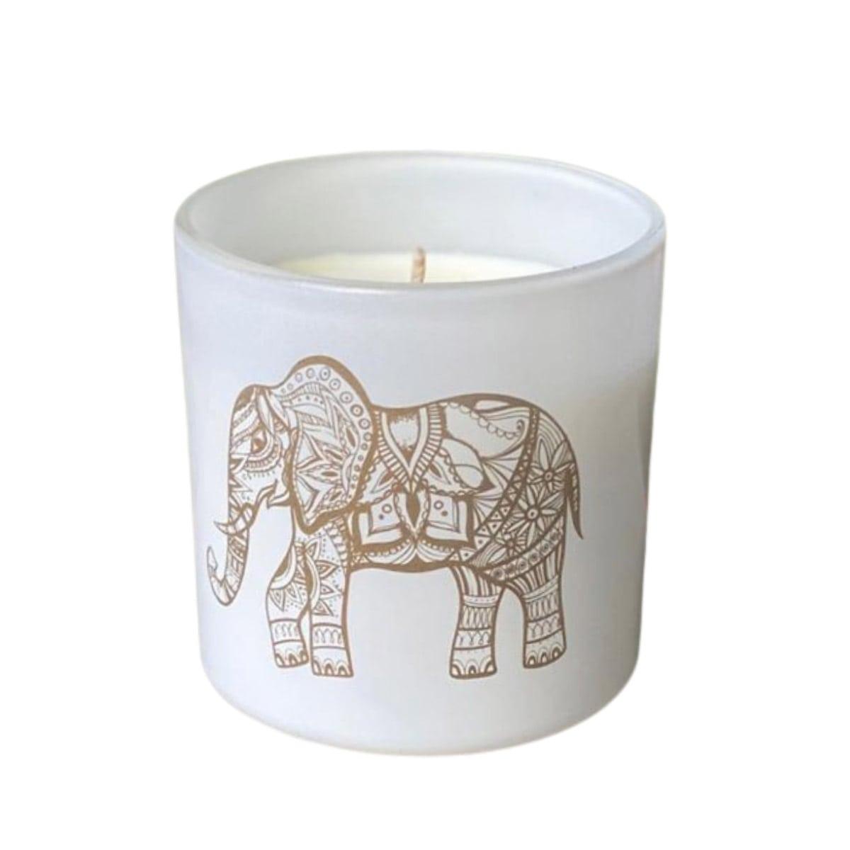 Vela ecológica imagem elefante - mandarim e musk 180g