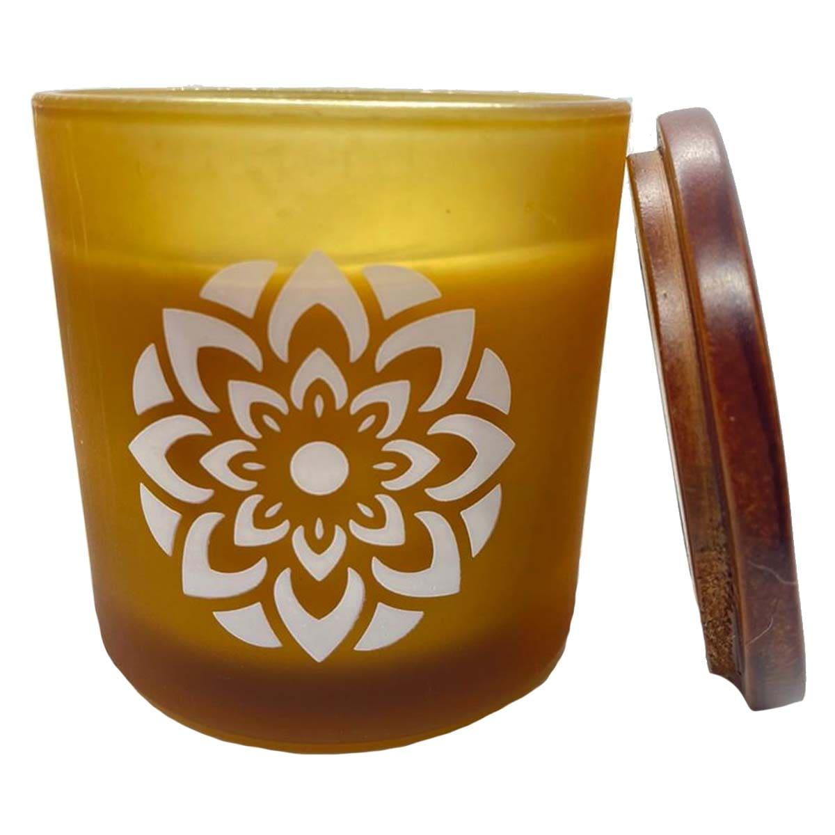 Vela ecológica mandala bright side chá branco 180g