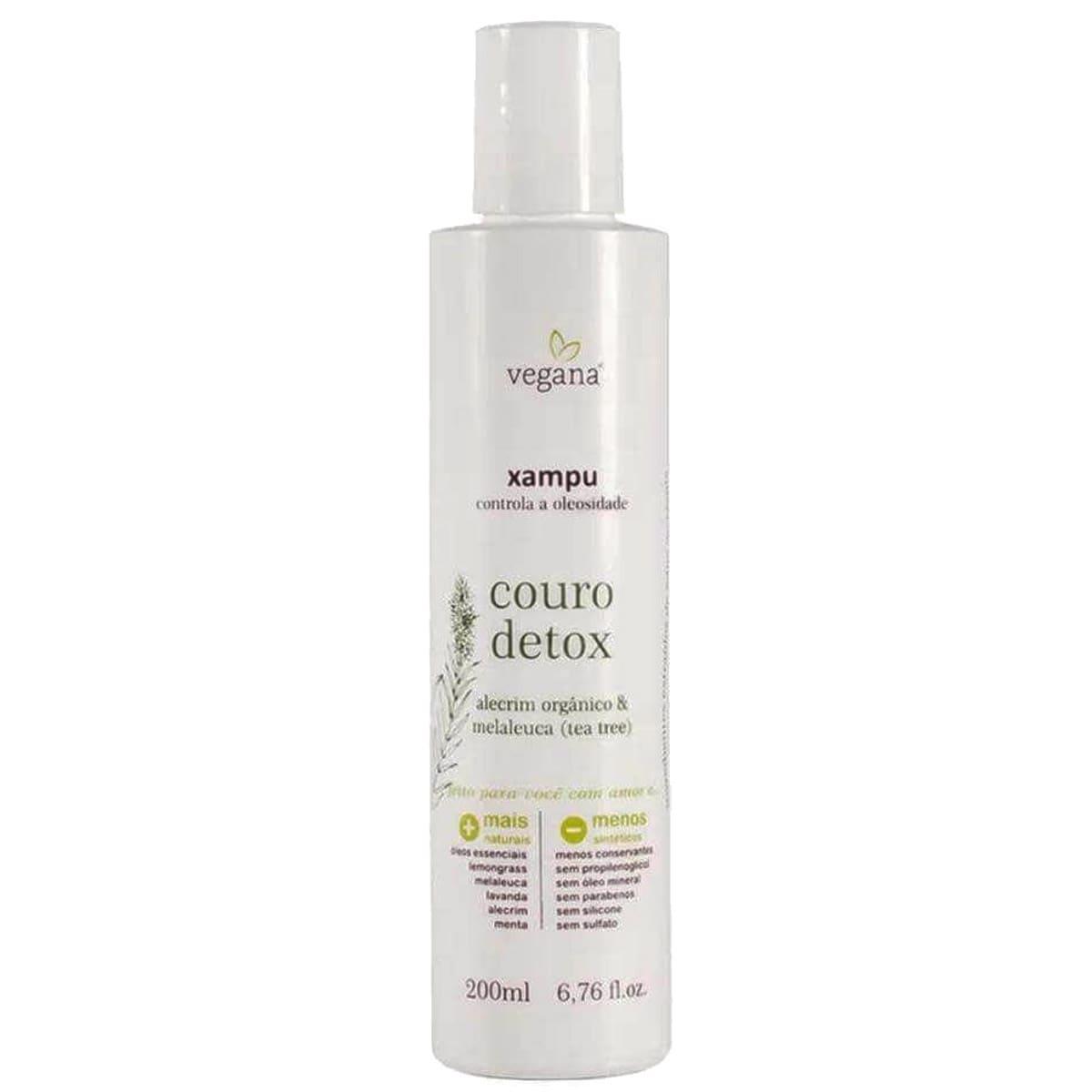 Xampu Couro Detox Tea Tree Vegana  200ml - WNF