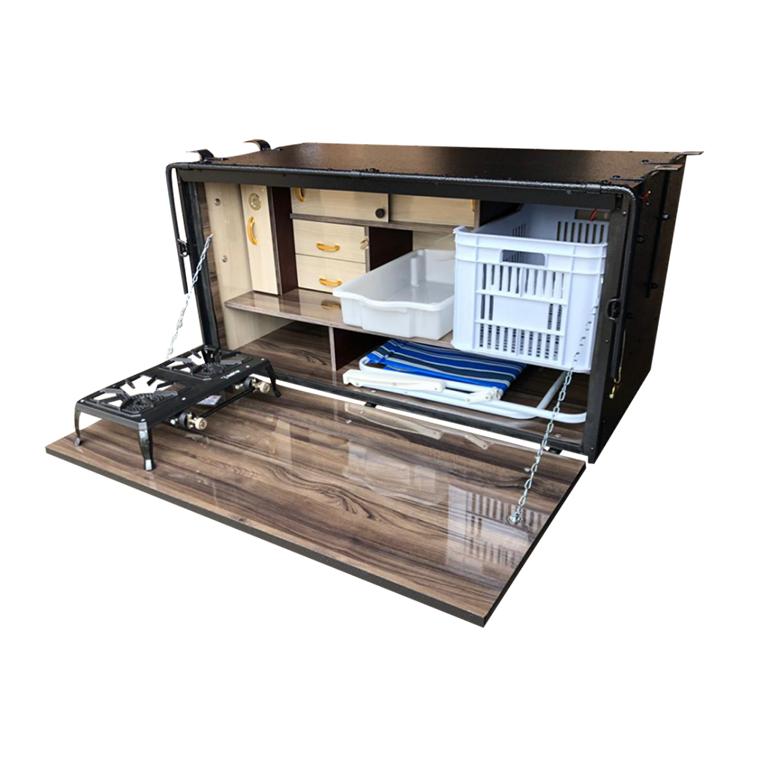 Caixa de Cozinha para Caminhão 125cm 2 Andar - Linha Super Luxo
